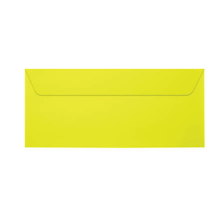 """LUX Full-Face Window Envelopes With Moisture Closure, #10, 4 1/8"""" x 9 1/2"""", Citrus, Pack Of 50"""
