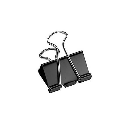 "Office Depot® Brand Binder Clips, Medium, 1 1/4"" Wide, 5/8"" Capacity, Black, Pack Of 24"