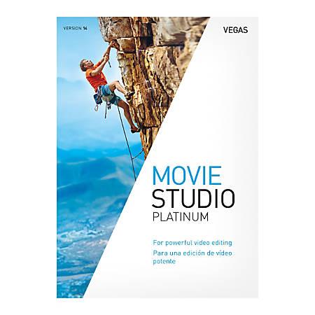 Magix Vegas Movie Studio 14 Platinum, Traditional Disc