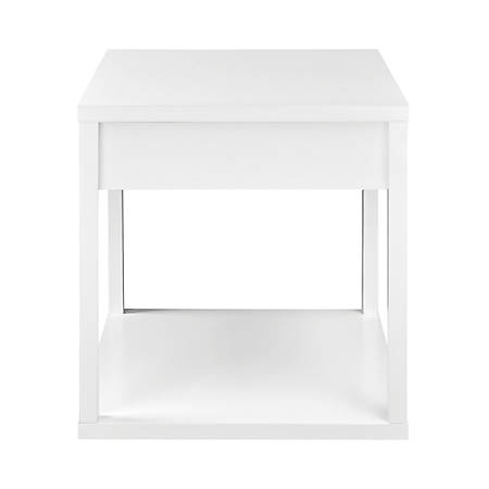 Ameriwood™ Home End Table with Drawer, Square, White