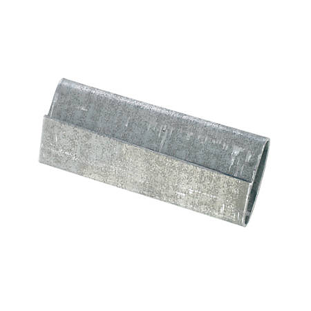 """Heavy-Duty Closed/Thread On Steel Strapping Seals, 1 1/4"""" x 2 1/4"""",Case Of 1,000"""