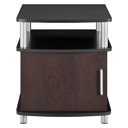 Ameriwood™ Home Contemporary Carson End Table, With Storage, Cherry/Black