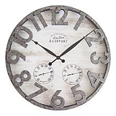 FirsTime Co Shiplap Outdoor Wall Clock