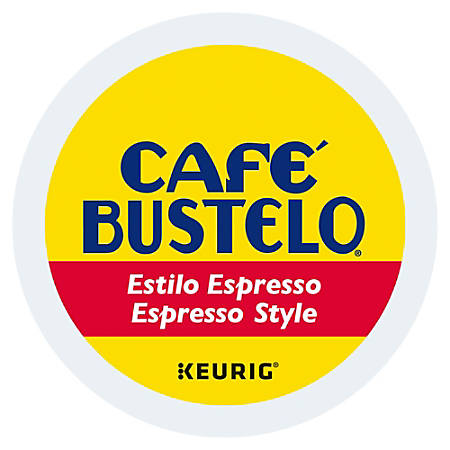Café Bustelo Espresso Roast Coffee K-Cup® Pods, 0.37 Oz, Box Of 24 Pods