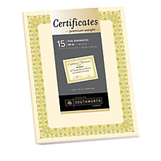 Southworth Premium Foil Certificates 8 12