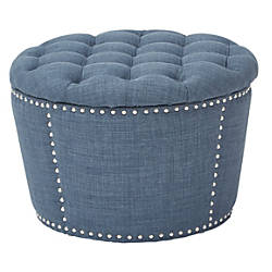 OSP Accents Lacey Tufted Storage Ottoman