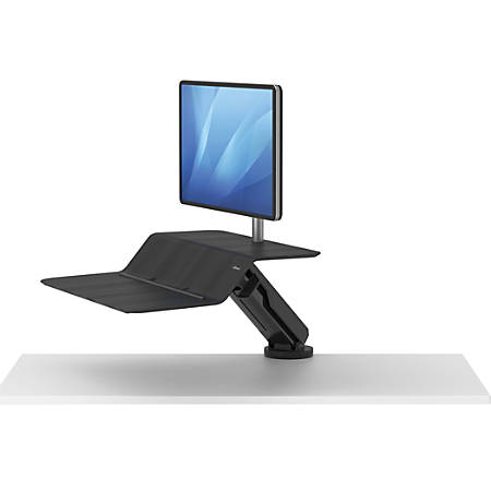 Fellowes® Lotus™ RT Sit-Stand Workstation, Single Monitor, Black