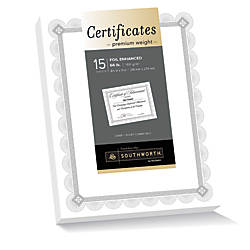 Southworth Premium Weight Foil Certificates 8