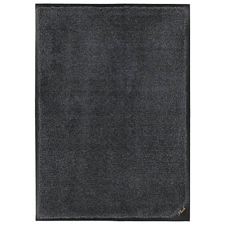 "The Andersen Company Colorstar Plush Floor Mat, 24"" x 36"", Midnight Gray"