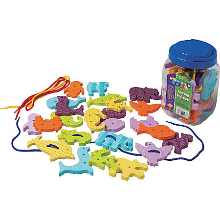 Pacon WonderFoam Early Learning Lacing Animals Set - Theme/Subject: Learning - Skill Learning: Animal, Sequencing, Fine Motor, Tactile Discrimination, Animal Shapes