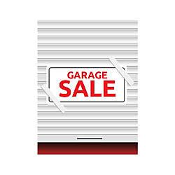 Plastic Sign Garage Sale Vertical