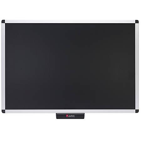 "Smead® Justick Bulletin Board, Aluminum, 36"" x 24"", Black, Aluminum Frame"
