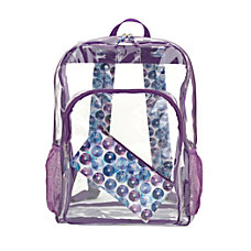 Aquarius Clear PVC Backpack With Pencil