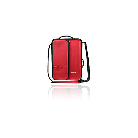 """Higher Ground Shuttle 2.1 Carrying Case for 11"""" Notebook - Red - Water Resistant, Heat Resistant - Fabric, Foam Interior - Hand Carry, Shoulder Strap - 13.3"""" Height x 10"""" Width x 2.5"""" Depth"""