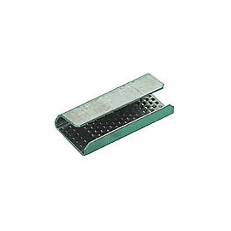 """Serrated Open/Snap On Polyester Strapping Seals, 5/8"""", Pack Of 1,000"""