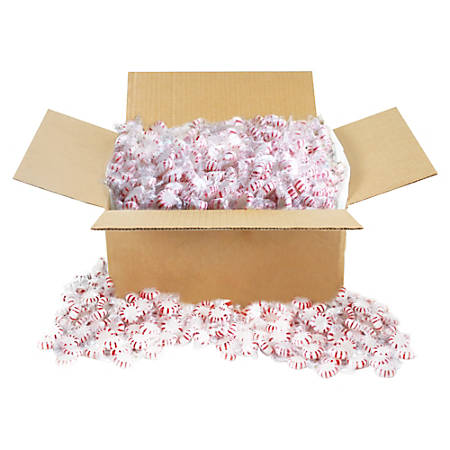 Office Snax Peppermint Hard Candy, 10 Lb Box