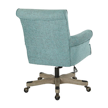 Office Star™ Megan Metal/Wood Office Chair, Turquoise