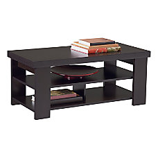 Ameriwood Home Coffee Table Rectangle Black