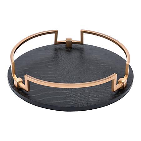 Zuo Modern Round Tray, Black