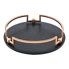 Zuo Modern Round Tray Black