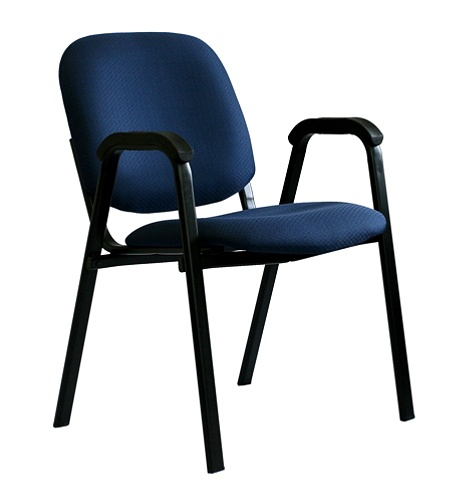buy online ec922 6a748 Office-Stor PLUS Stacking Guest Chair With Arms, 33 1/4