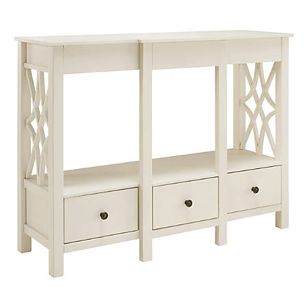 "Linon Camille TV Stand, 36""H x 48""W x 16""D, Antique White"
