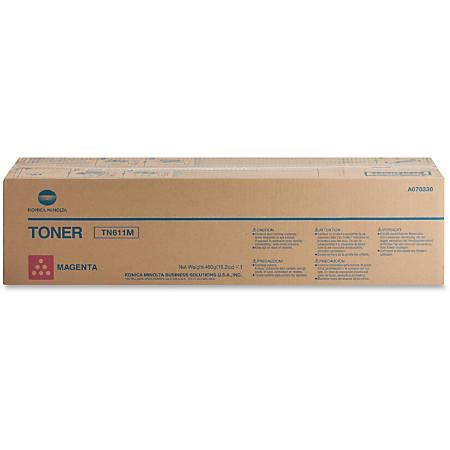 Konica Minolta TN-611M Original Toner Cartridge - Laser - 27000 Pages - Magenta - 1 Each