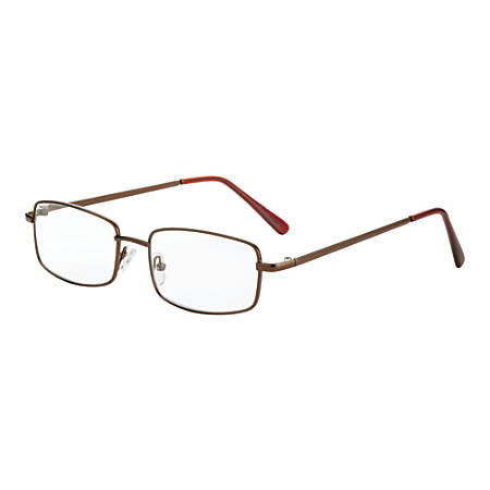 Dr. Dean Edell Richmond Reading Glasses, +1.50, Bronze