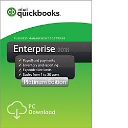 QuickBooks Desktop Enterprise Platinum 2018 2