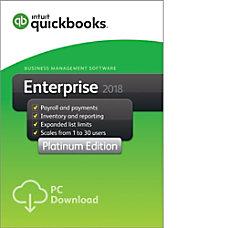 QuickBooks Desktop Enterprise Platinum 2018 2