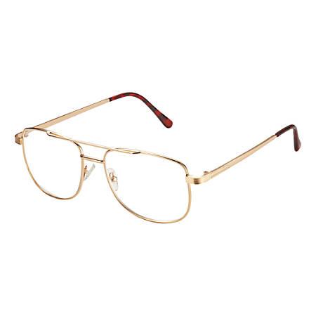 6992021faa701 Dr. Dean Edell Oakdale Aviator Reading Glasses 2.50 GoldTortoise ...