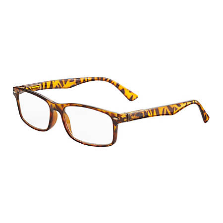 ICU Eyewear Men's Polycarbonate Reading Glasses, Black, 2.25x