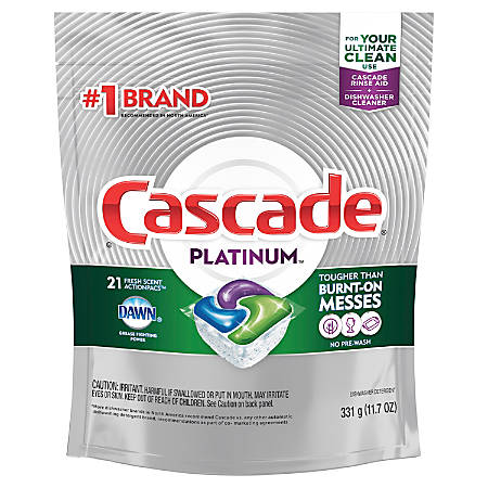 Cascade Platinum ActionPacs Dishwasher Detergent Fresh