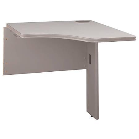 "Bush Business Furniture Office Advantage Transitional Bridge, 30""W, Pewter, Premium Installation"