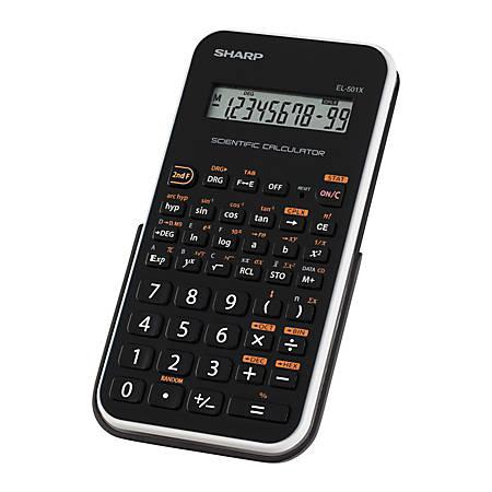 EL-501XBWH Scientific Calculator, 10-Digit LCD, Black/White