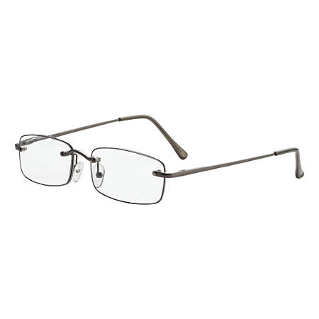 Dr. Dean Edell Beaumont Reading Glasses, +1.50, Gunmetal