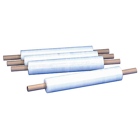 """Office Depot® Brand Cast Hand Stretch Film With Extended Cores, 90 Gauge, 30"""" x 1000', Pack Of 4"""