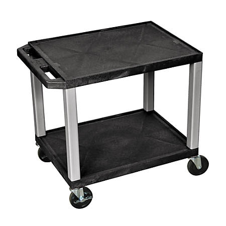 Tuffy Audio/Visual Cart, Black/Nickel