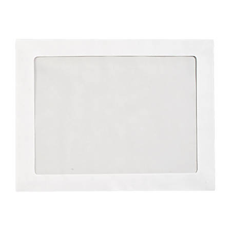 """LUX Full-Face Window Envelopes With Moisture Closure, #6 3/4, 10"""" x 13"""", Bright White, Pack Of 500"""