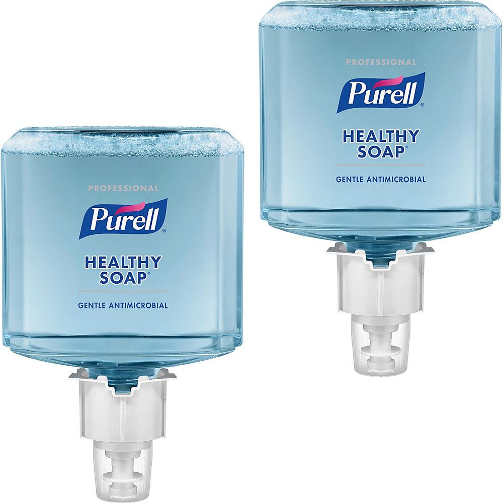 PURELL� ES6 0.5% BAK HEALTHY SOAP Foam - 40.6 fl oz (1200 mL) - Hand - Blue - Antimicrobial, Moisturizing, Dye-free, Hypoallergenic, Bio-based - 2 / C -  GOJ647902