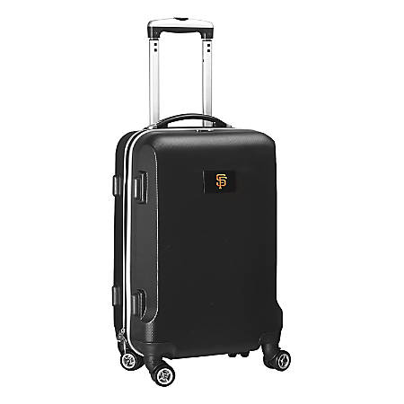 "Denco 2-In-1 Hard Case Rolling Carry-On Luggage, 21""H x 13""W x 9""D, San Francisco Giants, Black"