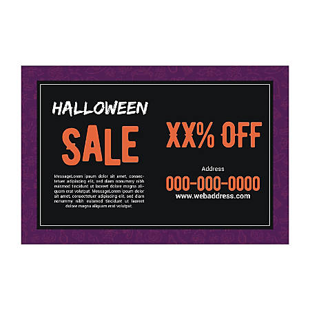Floor Decal, Purple Halloween, Horizontal