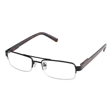 ICU Eyewear Men's Rimless Reading Glasses, Black, 2.25x