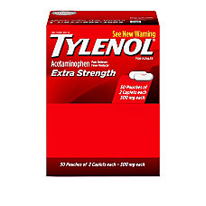 Tylenol Extra Strength Box Of 50