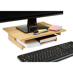 Mind Reader Basic Bamboo Monitor Stand