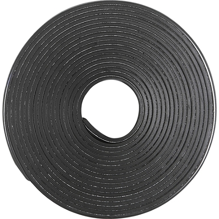 "Business Source 38506 Magnetic Tape Roll - 0.50"" Width x 10 ft Length - Adhesive Backing - Magnetic, Flexible - 1 Each - Black"