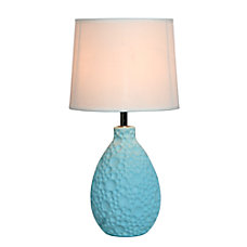 Simple Designs Textured Stucco Table Lamp