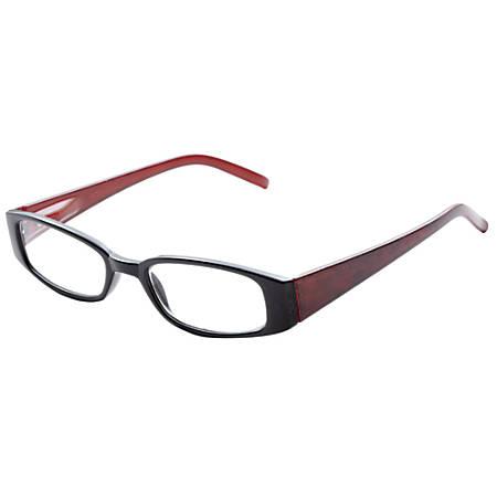 ICU Eyewear Rectangular Reading Glasses, Black, +2.25