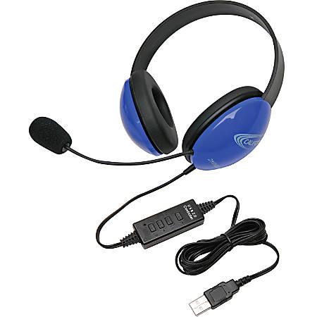 Califone USB Stereo Headphones Listening First Series Blue