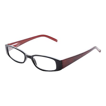 Wink® El Monte Reading Glasses, +2.50, Black/Red